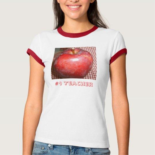 #1 Teacher / Apple Shirt