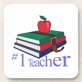 #1 Teacher Beverage Coaster