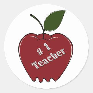 # 1 Teacher Classic Round Sticker