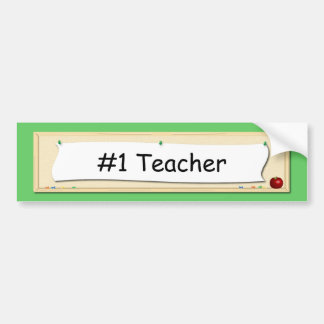 #1 Teacher Corkboard Bumper Sticker
