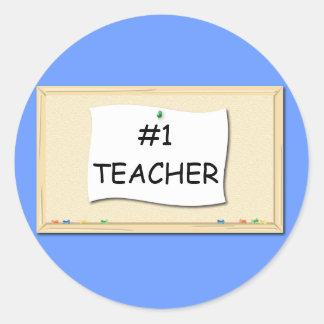 #1 Teacher Corkboard Sticker