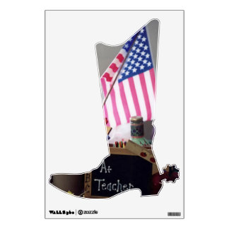 #1 Teacher Cowboy Boot Wall Decal