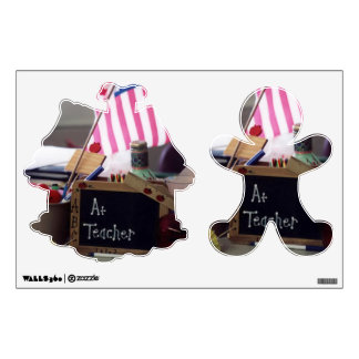 1 Teacher Ginger Bread Man And House Wall Decals