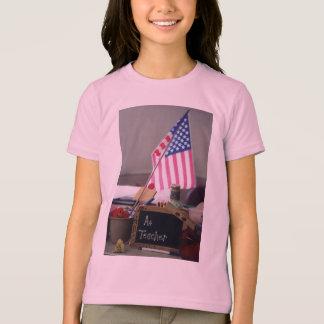 #1 Teacher Girls Ringer T-Shirt