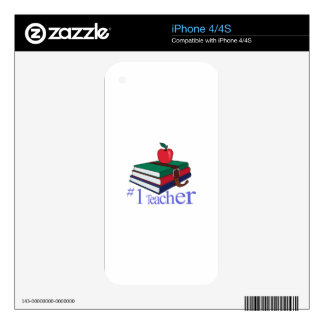 #1 Teacher iPhone 4 Skins