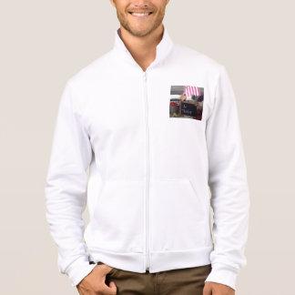 #1 Teacher Men's California Fleece Zip Jogger Printed Jacket