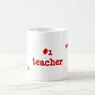 """""""#1 teacher"""" mug"""