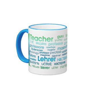 1 Teacher Ringer Coffee Mug