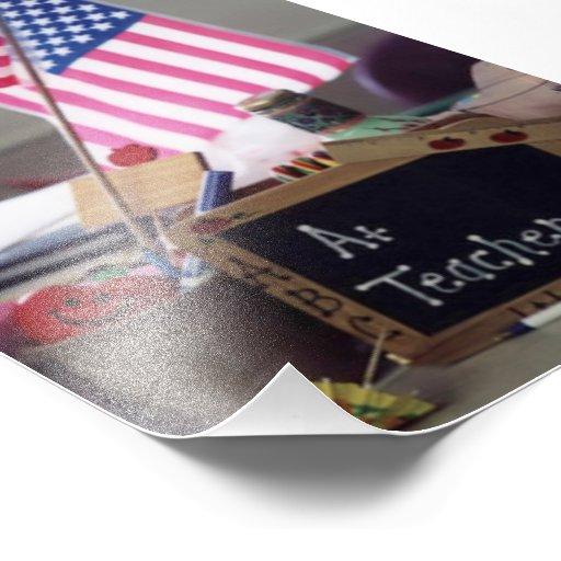 #1 Teacher Photo Print
