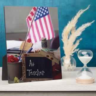 #1 Teacher Plaque