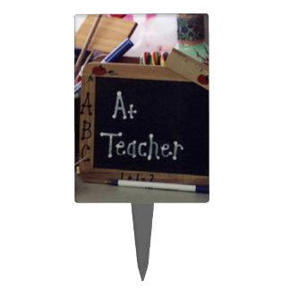 #1 Teacher Rectangle Cake Topper