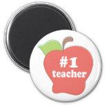 #1 Teacher Refrigerator Magnet