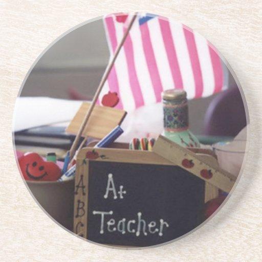#1 Teacher Sandstone Coaster