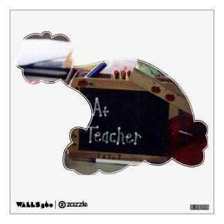#1 Teacher Santa Hat Wall Decal