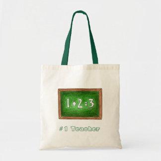 #1 Teacher School Chalkboard Math Teacher Gift Bag