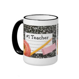 #1 Teacher School Supply Mug