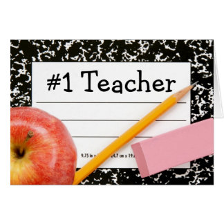 #1 Teacher School Theme Card