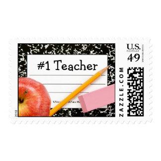 #1 Teacher School Theme Postage