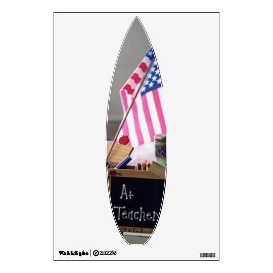 #1 Teacher Short Board Wall Decal