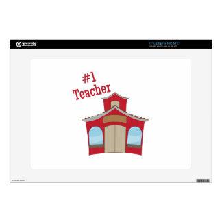 #1 Teacher Laptop Decal