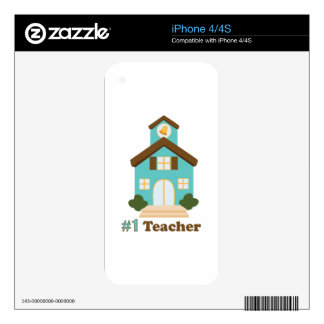 #1 Teacher iPhone 4S Decal