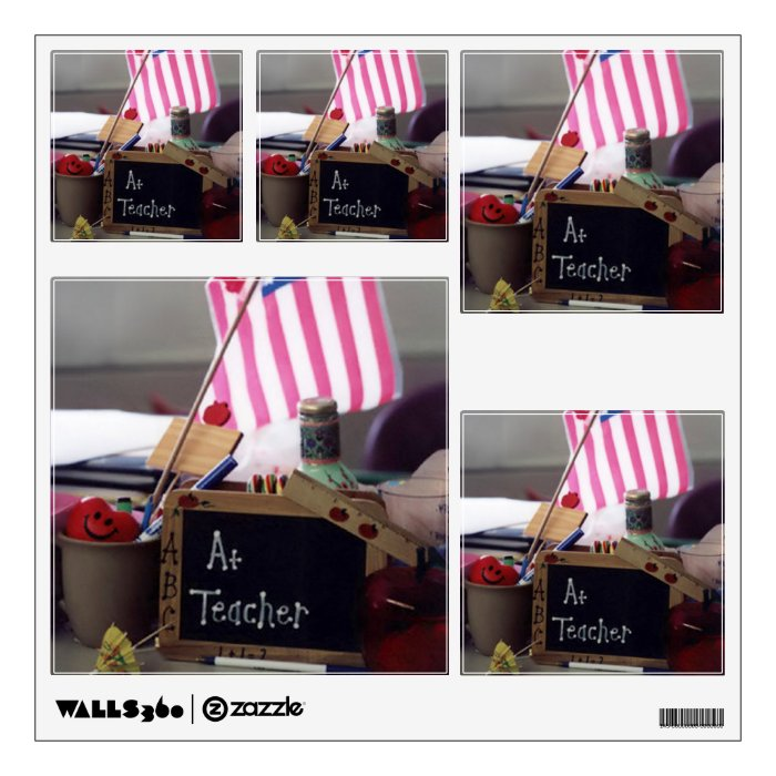 #1 Teacher Squares 2 Wall Decals