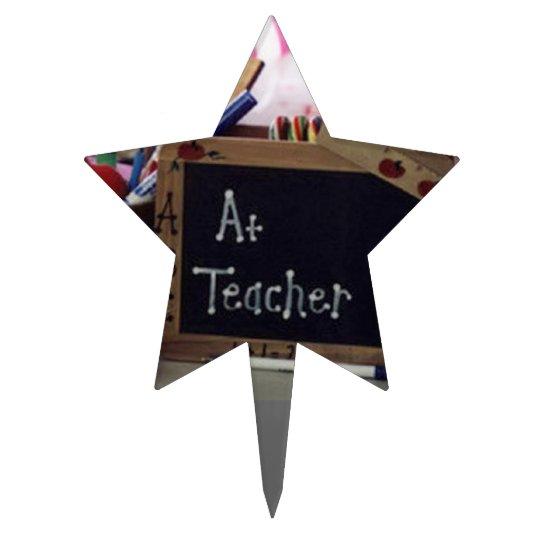 #1 Teacher Star Cake Topper