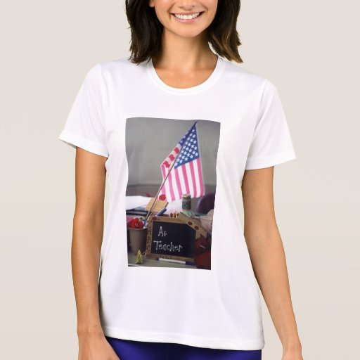 #1 Teacher Women's Performance Micro-Fiber T-Shirt