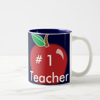 #1 Teacher's Mug-Customize Two-Tone Coffee Mug