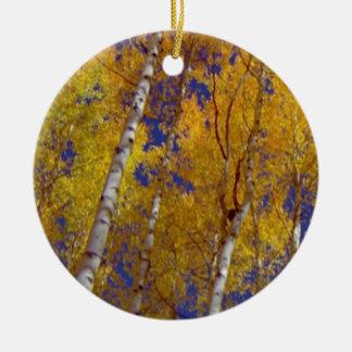 1 temporada de otoño sq de los temporeros adorno redondo de cerámica