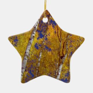1 temporada de otoño sq de los temporeros adorno de cerámica en forma de estrella