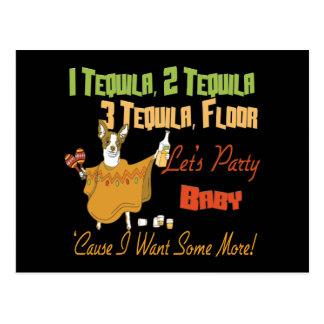 1 Tequila 2 Tequila 3 Tequila Floor Postcard