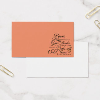 1 Thes 5:16-18 - Scripture Art Business Card