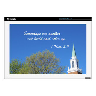 "1 Thessalonians 5:11 Decal For 17"" Laptop"