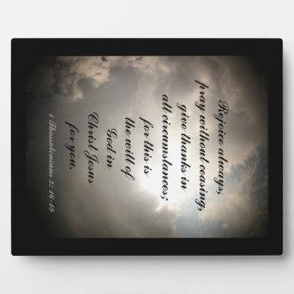 1 Thessalonians 5: 16-18 Plaque