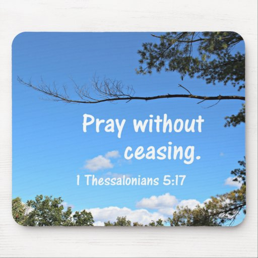 1 thessalonians 5 17 pray without ceasing mouse pad zazzle for Pray without ceasing coloring page