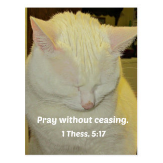 1 Thessalonians 5:17 Pray without ceasing. Postcard