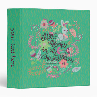 1 Thessalonians 5:18 Give Thanks In All Circumstan 3 Ring Binder