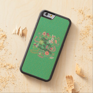 1 Thessalonians 5:18 Give Thanks In All Circumstan Carved® Maple iPhone 6 Bumper Case