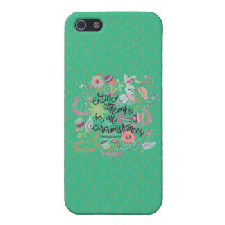 1 Thessalonians 5:18 Give Thanks In All Circumstan iPhone SE/5/5s Case