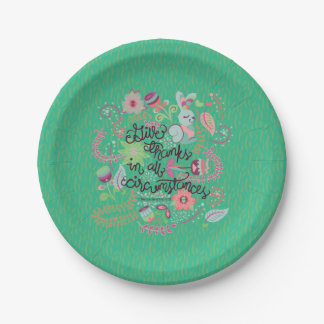 1 Thessalonians 5:18 Give Thanks In All Circumstan Paper Plate