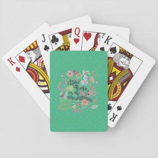 1 Thessalonians 5:18 Give Thanks In All Circumstan Playing Cards