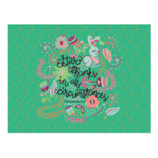 1 Thessalonians 5:18 Give Thanks In All Circumstan Postcard