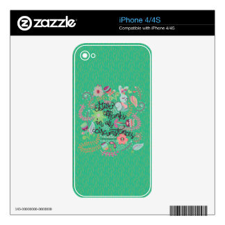 1 Thessalonians 5:18 Give Thanks In All Circumstan Skins For iPhone 4