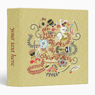 1 Thessalonians 5:18 Give Thanks In All Circumstan Vinyl Binders