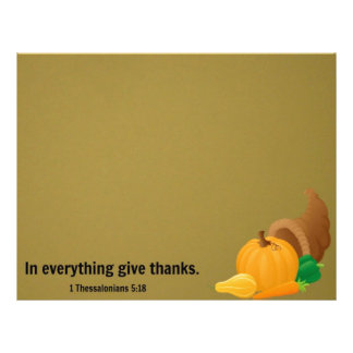 1 Thessalonians 5:18 In everything give thanks. Letterhead