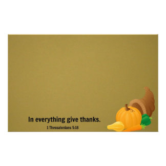 1 Thessalonians 5:18 In everything give thanks. Stationery