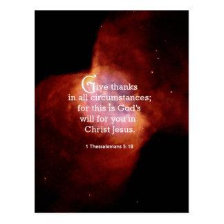 1 Thessalonians 5:18 Postcard