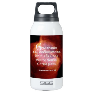 1 Thessalonians 5:18 Thermos Water Bottle