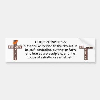 1 THESSALONIANS 5:8 CHRISTIAN SOLDIER BUMPER STICKER